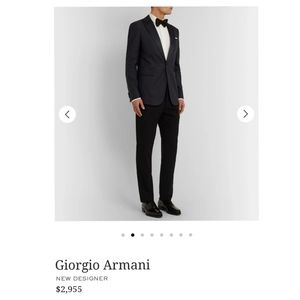 Giorgio Armani Men's black suit jacket size 46